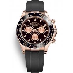 Rolex Cosmograph Daytona Everose Gold Black Pink Dial Watch 116515LN