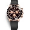 116515LN-0012 Rolex Oyster Cosmograph Daytona Everose Gold Black Pink Dial Rubber Watch