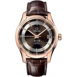 Omega De Ville Hour Vision Rose Gold Watch 431.63.41.21.13.001