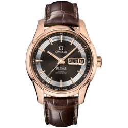 Omega De Ville Hour Vision Calendar Gold Watch 431.63.41.22.13.001