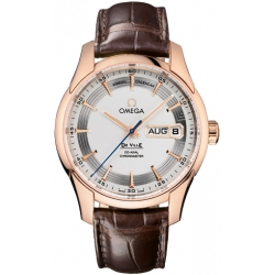 Omega De Ville Vision Calendar Mens Rose Gold Watch 431.63.41.22.02.001