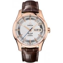 Omega De Ville Vision Calendar Mens Rose Gold Watch 431.63.41.22.02.001