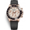 116515LN-0014 Rolex Oyster Cosmograph Daytona Everose Gold Ivory Dial Rubber Watch