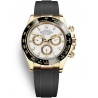 116518LN-0033 Rolex Oyster Cosmograph Daytona Yellow Gold White Dial Rubber Watch