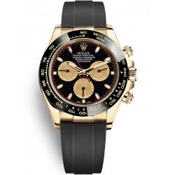 Rolex Cosmograph Daytona Yellow Gold Black Champagne Dial Watch 116518LN