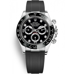 Rolex Cosmograph Daytona White Gold Diamond Black Dial Watch 116519LN