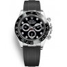 116519LN-0022 Rolex Oyster Cosmograph Daytona White Gold Diamond Black Dial Rubber Watch