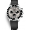 116519LN-0024 Rolex Oyster Cosmograph Daytona White Gold Steel Black Dial Rubber Watch