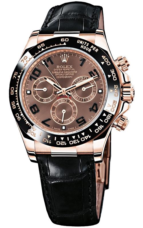 Rolex Cosmograph Daytona Everose Gold Chocolate Dial Leather Watch  116515,LNBR