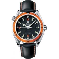 Omega Planet Ocean 42mm Orange Bezel Mens Watch 2909.50.82