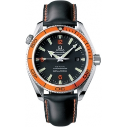 Omega Planet Ocean 42mm Orange Bezel Mens Watch 2909.50.82