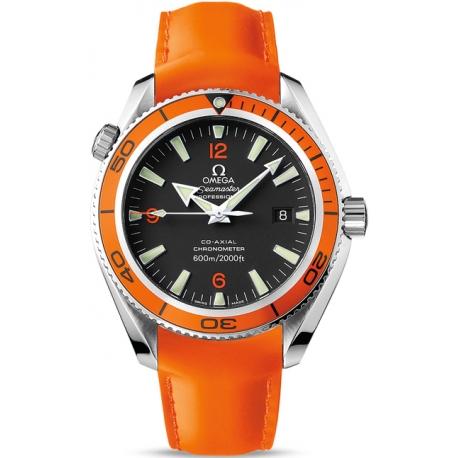 Omega Planet Ocean 42mm Mens Orangle Band Watch 2909.50.83