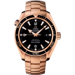 Omega Planet Ocean 42mm Gold Bracelet Watch 222.60.42.20.01.001