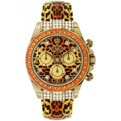 Rolex Cosmograph Daytona Leopard 18K Yellow Gold Watch 116598-SE