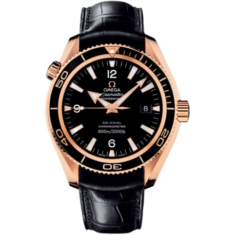 Omega Planet Ocean 42mm 18K Rose Gold Watch 222.63.42.20.01.001