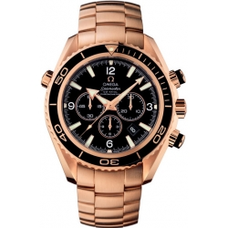 Omega Planet Ocean Rose Gold Bracelet Watch 222.60.46.50.01.001