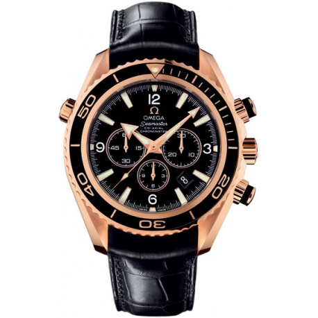 Omega Planet Ocean Chrono Rose Gold Watch 222.63.46.50.01.001