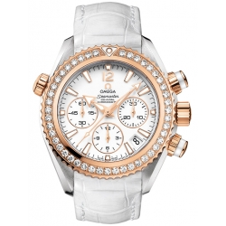 Omega Planet Ocean Womens Gold Diamond Watch 222.28.38.50.04.001