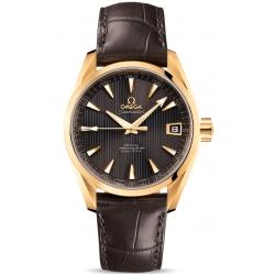 Omega Aqua Terra Mens Yellow Gold Watch 231.53.39.21.06.002