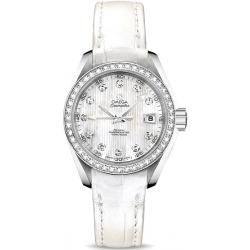 Omega Aqua Terra Womens Diamond Watch 231.18.30.20.55.001