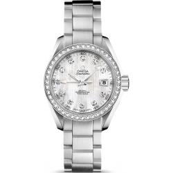 Omega Aqua Terra Womens Bracelet Diamond Watch 231.15.30.20.55.001
