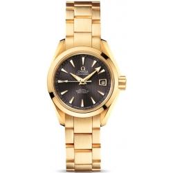 Omega Aqua Terra Womens Gold Bracelet Watch 231.50.30.20.06.002