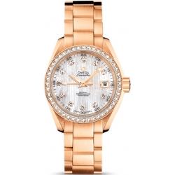 Omega Aqua Terra Rose Gold Diamond Watch 231.55.30.20.55.001