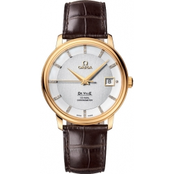 Omega De Ville Prestige 36mm Mens Gold Case Watch 4617.35.02