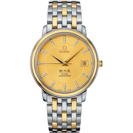 Omega De Ville Prestige 36mm Mens 2 Tone Watch 4374.15