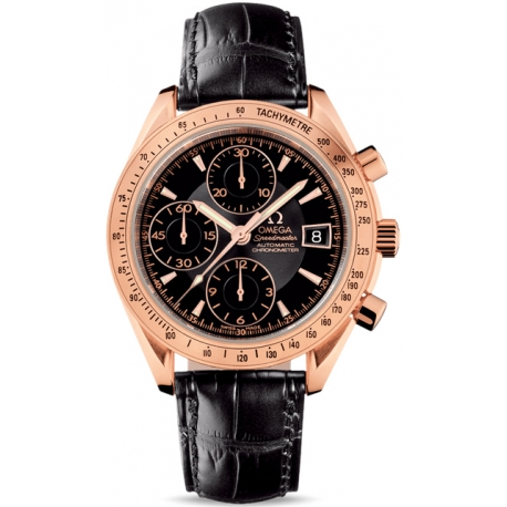 Omega Speedmaster Date Mens Rose Gold Watch 323 53 40 40 01 001