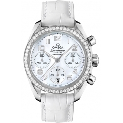 Omega Speedmaster Chrono Womens Diamond Watch 324.18.38.40.05.001