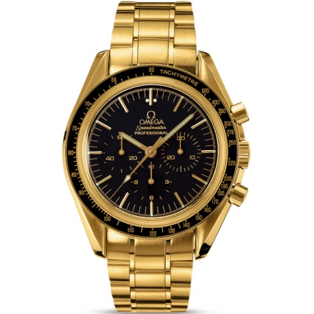 Omega Speedmaster Professional Gold Bracelet Watch 3195.50.00