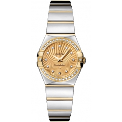 Omega Constellation 09 Womens 2 Tone Watch 123.25.24.60.58.002