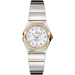 Omega Constellation 09 Womens Gold Diamond Watch 123.25.24.60.55.007