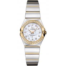 Omega Constellation 09 Womens Gold Diamond Watch 123.25.24.60.55.007