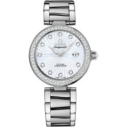 Omega De Ville Ladymatic Womens Diamond Watch 425.35.34.20.55.001