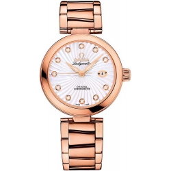 Omega De Ville Ladymatic Womens Gold Watch 425.60.34.20.55.001