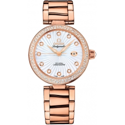 Omega De Ville Ladymatic Womens Gold Watch 425.65.34.20.55.001