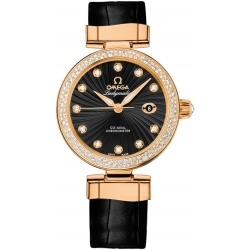 Omega De Ville Ladymatic Womens Gold Watch 425.68.34.20.51.002