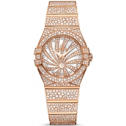 Omega Luxury Edition Rose Gold Diamond Watch 123.55.24.60.55.009