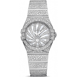 Omega Luxury Edition 24mm White Gold Diamond Watch 123.55.24.60.55.010