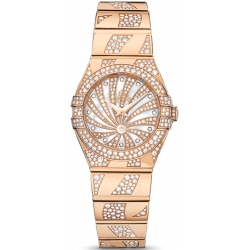 Omega Luxury Edition Rose Gold Womens Watch 123.55.24.60.55.011