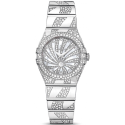 Omega Luxury Edition 24mm Womens Diamond Watch 123.55.24.60.55.012
