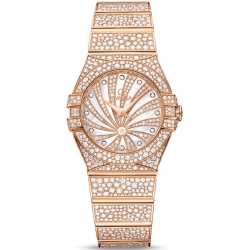 Omega Luxury Edition Rose Gold Diamond Watch 123.55.27.60.55.009