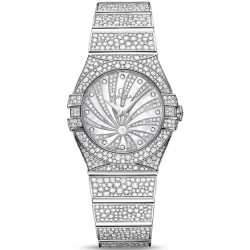 Omega Luxury Edition White Gold Diamond Watch 123.55.27.60.55.010