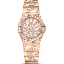 Omega Luxury Edition Rose Gold Diamond Watch 123.55.27.60.55.011