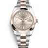 126301-0009 Rolex Datejust Steel 18K Everose Gold Sundust Dial Oyster Watch 41mm