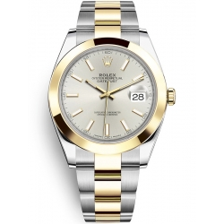 Rolex Datejust 41 Steel Yellow Gold Silver Dial Oyster Watch 126303