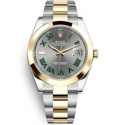 Rolex Datejust 41 Steel Yellow Gold Slate Dial Oyster Watch 126303