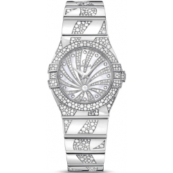 Omega Luxury Edition White Gold Diamond Watch 123.55.27.60.55.012